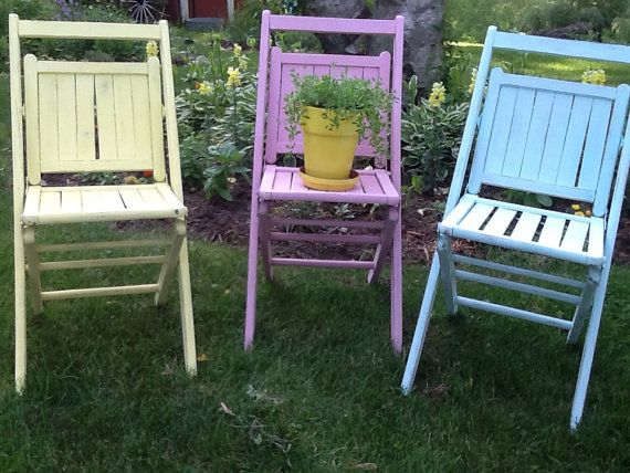 Upholstered Wooden Folding Chairs