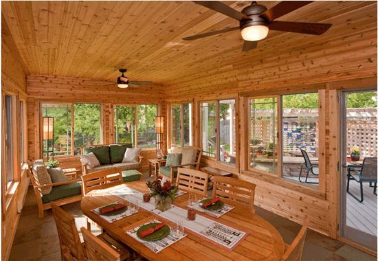 Knotty Pine Sunroom Google Search Hot Tub Room Cabin