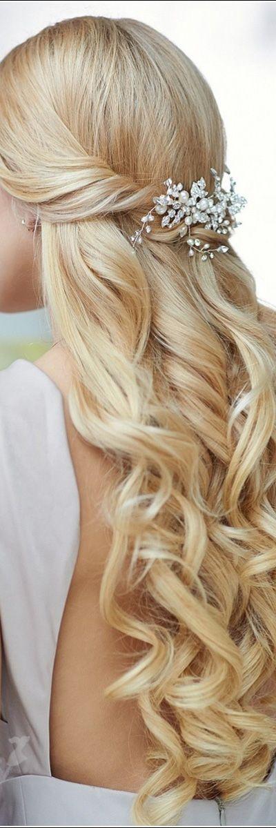 easy hair style for long hair … | frisur hochzeit, frisur