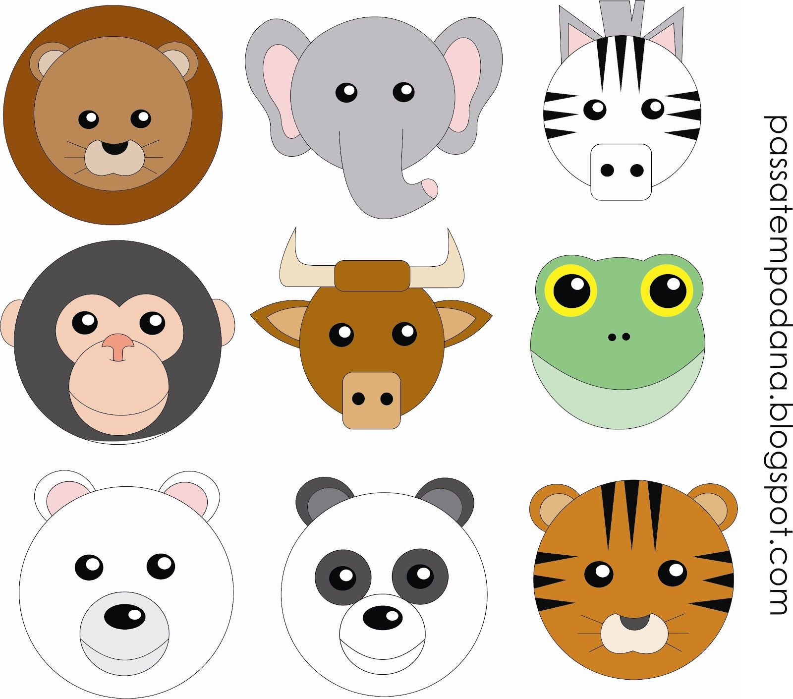 Мордочки животных картинки для детей, надписью