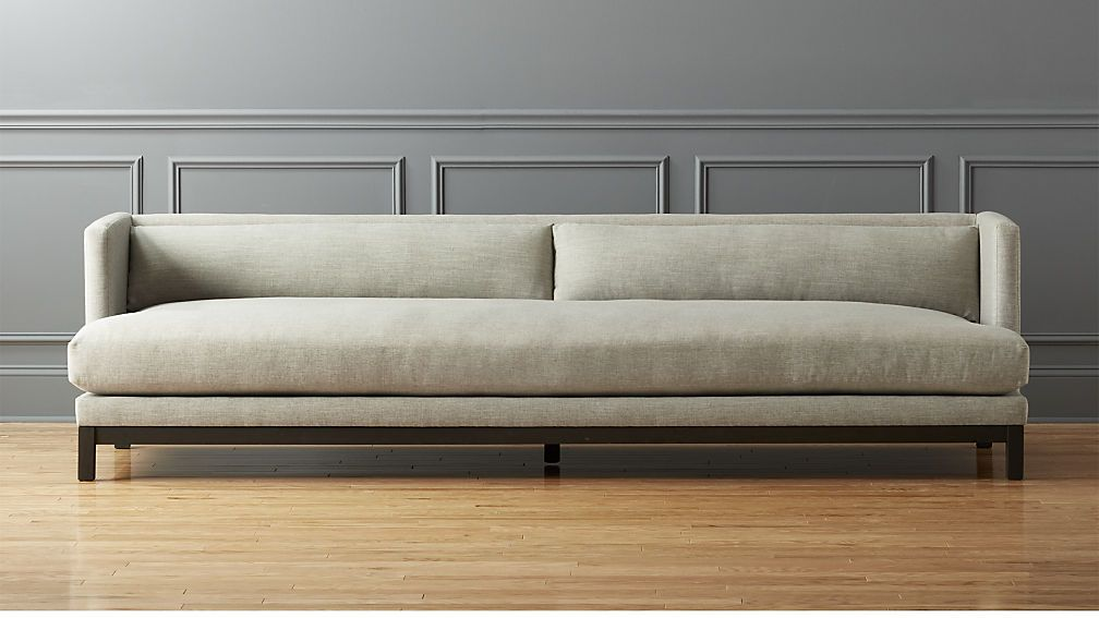 Brava Long Sofa Cb2 Living Room Decor Inspiration Long Sofa