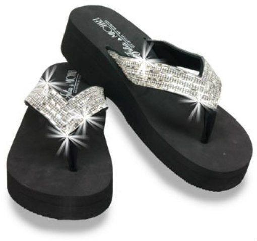 4175477f7ceb Rhinestone Wedge Flip Flops Sandals Bling Black Crystal Thong Fashion  Platform  JuliaMichael  FlipFlops