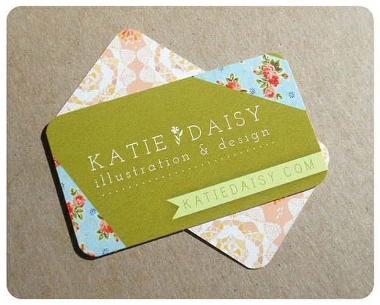 This business card from Katie Daisy Illustrations and Design is
