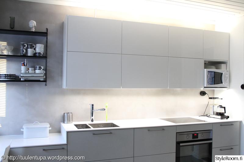 keittiö,välitila,keittiön välitila,led valot,led nauha  Ideas for my kitchen