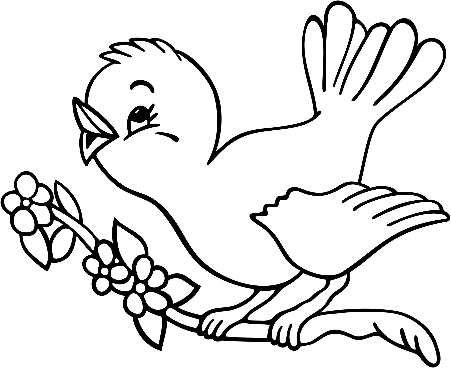 Coloring Pages Birds And Butterflies