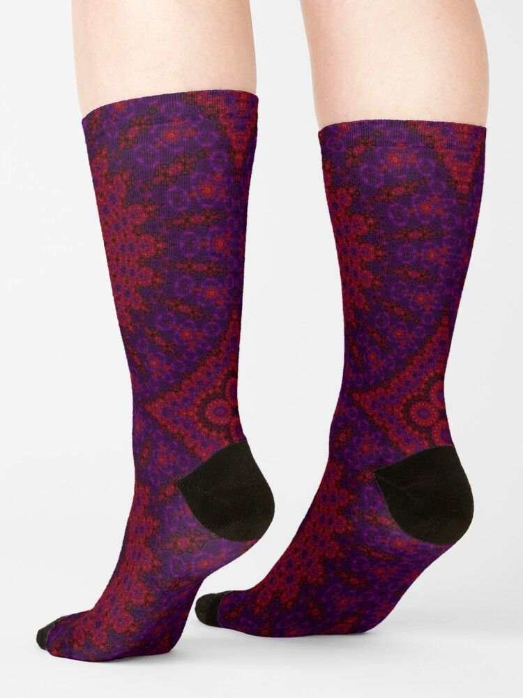 Red Mandala Socks