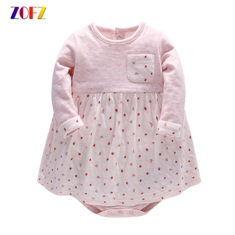 cda9649b10 ZOFZ Summer Baby Girl Clothes 2017 Baby Rompers Roupas Bebes Cute Cotton  Girls Dress Newborn Baby Clothes Infant Jumpsuits