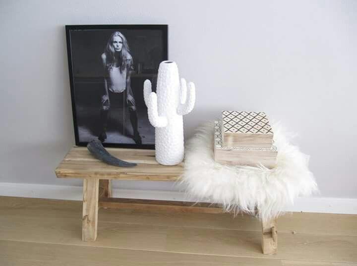 Cactus ♡ vaas wit. Nieuw in onze shop www.bynoth.nl