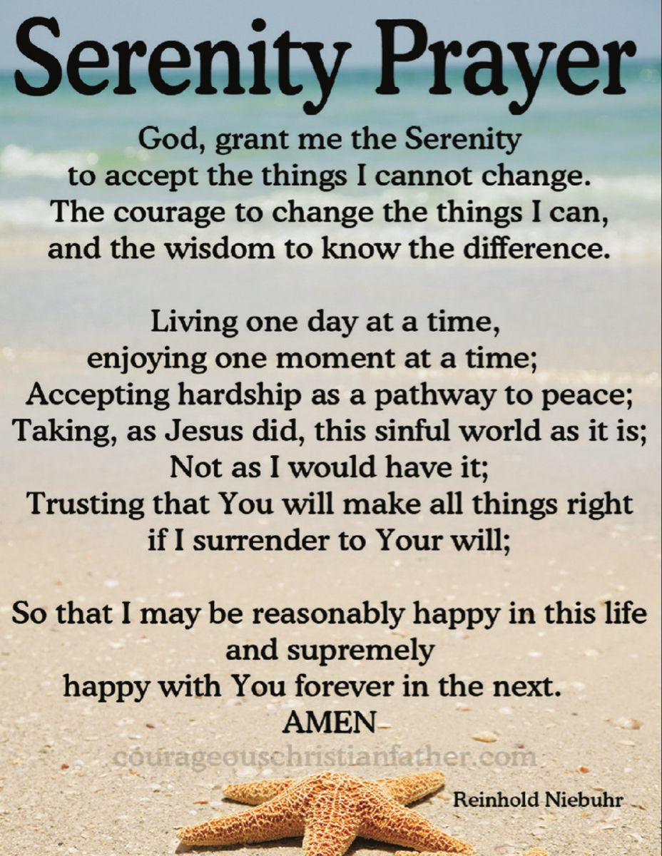 Serenity Prayer | Courageous Christian Father