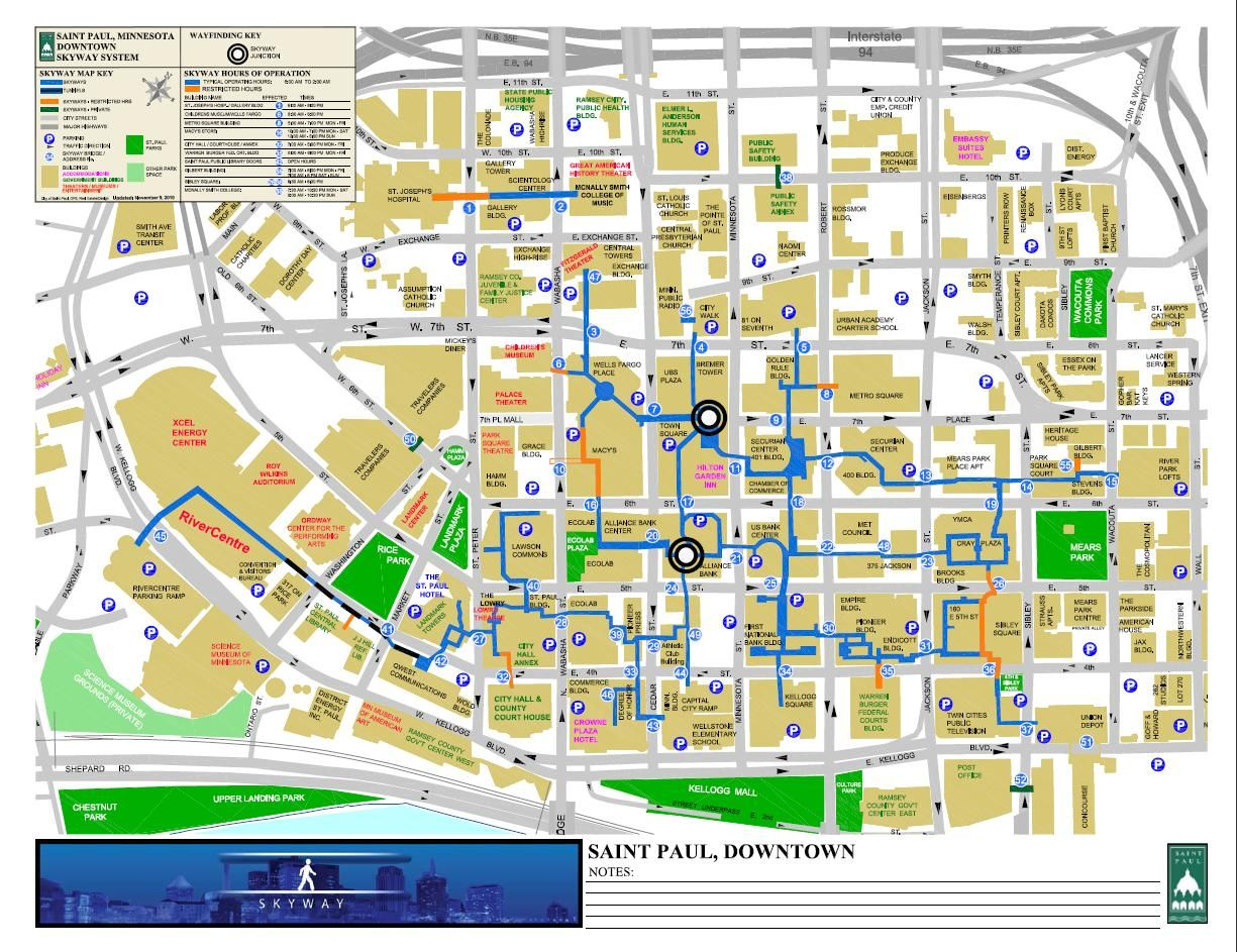 St. Paul MN | Skyway Map | Lowertown in 2019 | Map, Saints, Cartography