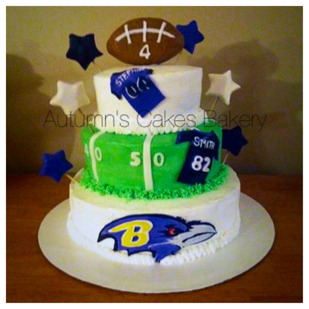 Baltimore Ravens Cake Football themed cakes Pinterest Cake