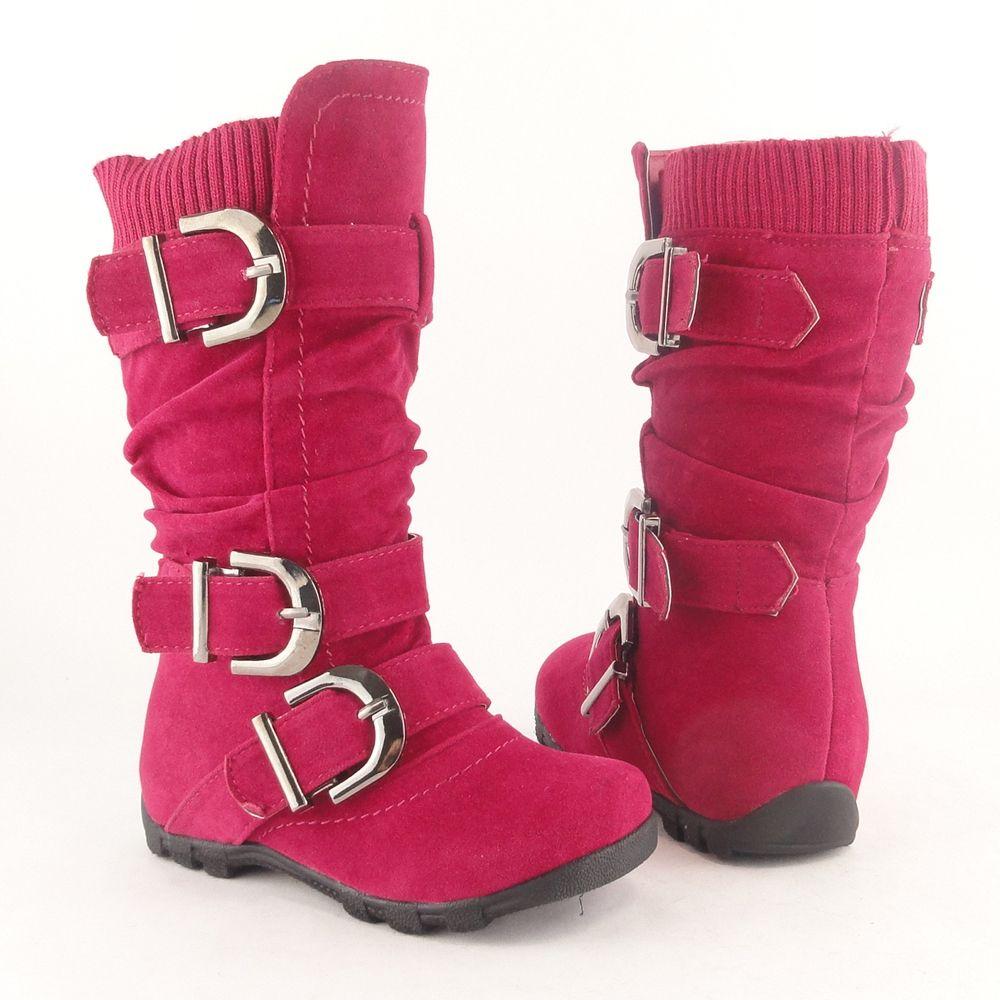 Suede boots knee