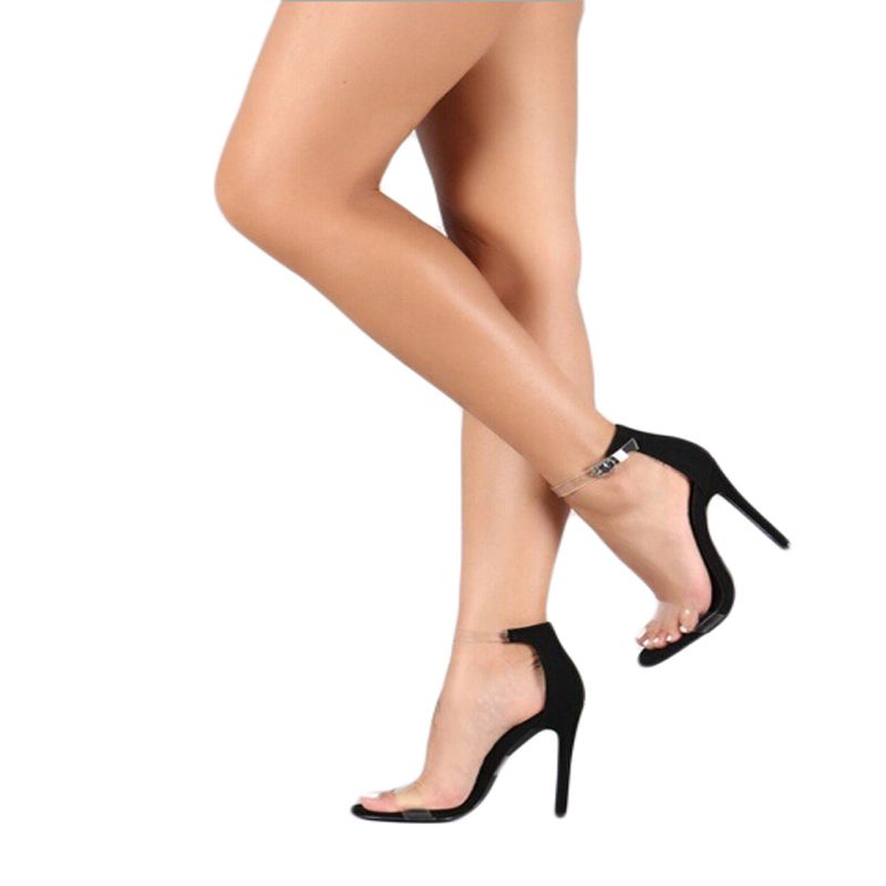 5b7597b8a68 2018 Hot Sale PVC Women Platform Sandals Super High Heels Waterproof Female  Transparent Crystal Wedding Shoes Sandalia Feminina-in Women s Sandals from  ...