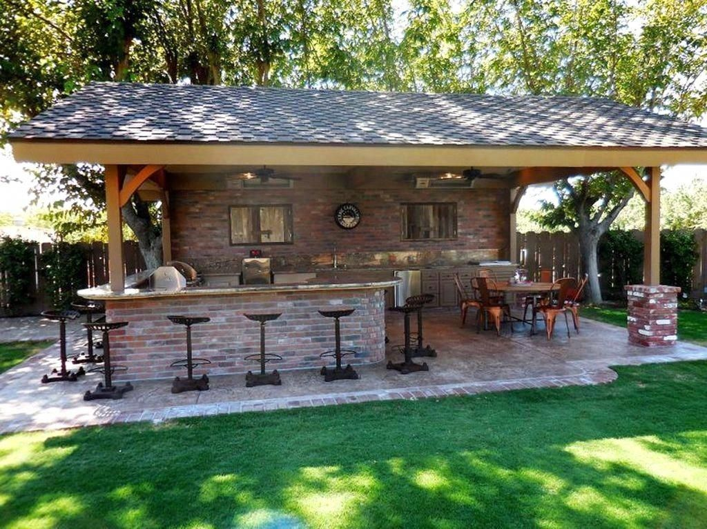Including A Bar To Your Outdoor Kitchen Or Backyard Celebration Location Need To Be As Useful As It Backyard Patio Designs Outdoor Kitchen Patio Backyard Patio