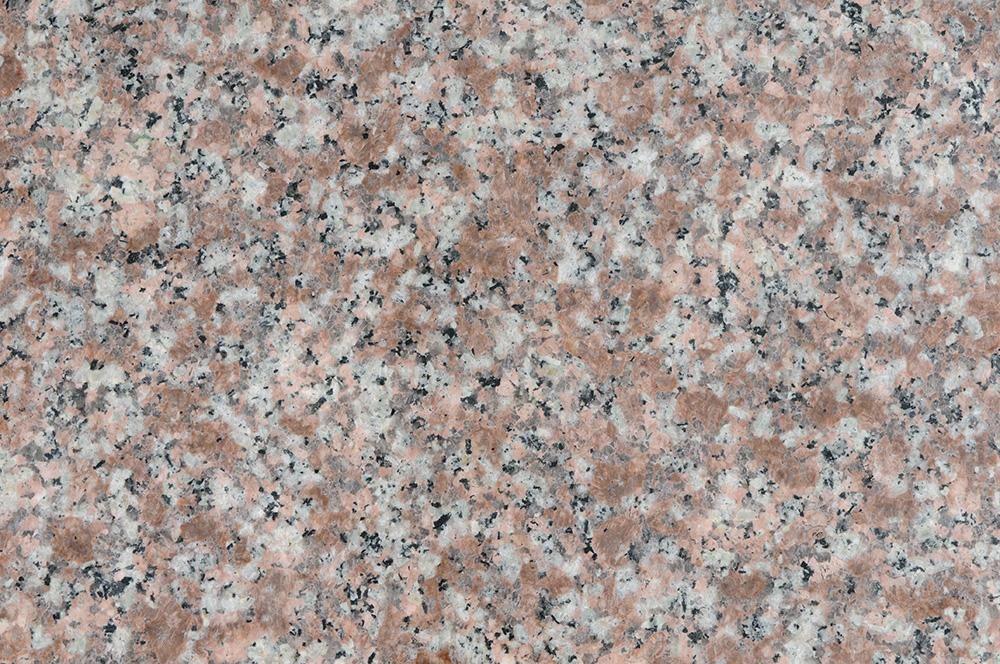BuildDirect – Granite Tile  – Peach Flower - Close View