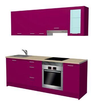 Cocina En Kit Iris Berenjena 2 2 Ref 17760764 Leroy Merlin Cocinas Modernas Cocinas Completas Laminas Decorativas