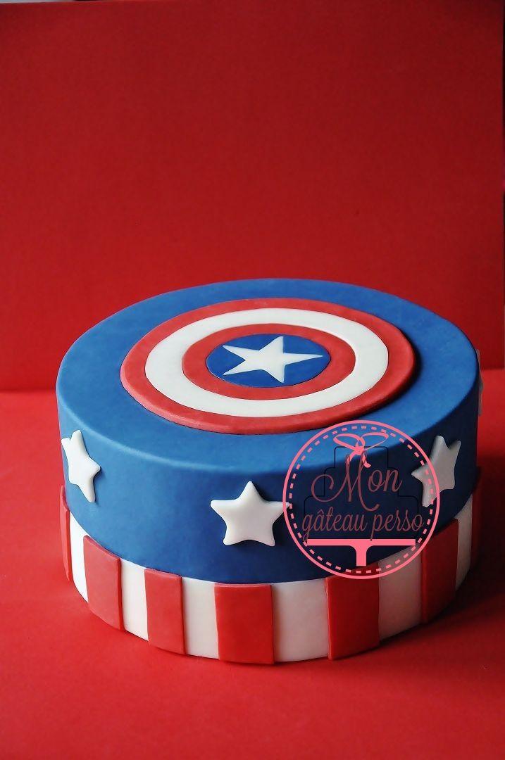 G teau captain am rica f te enfants g teau marvel g teau captain america et gateau avengers - Captain america fille ...