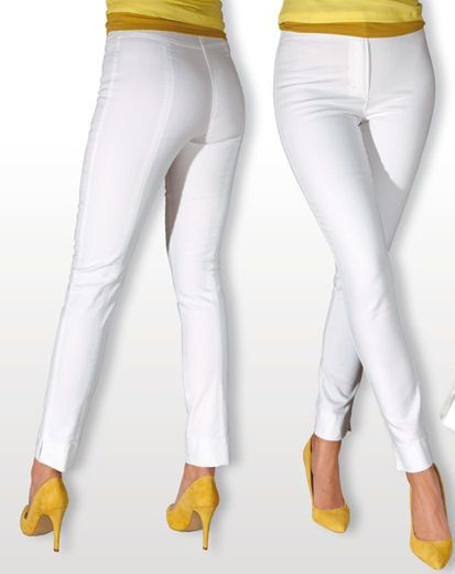 White Stretch Pants For Women