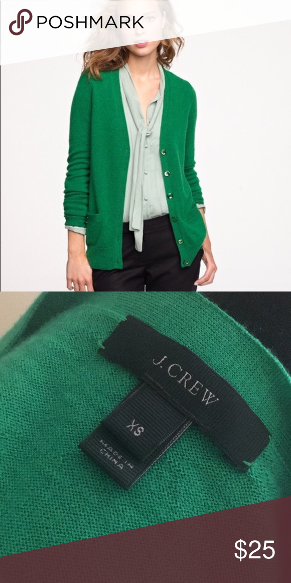 971c291d79 J Crew Kelly green 100% merino wool cardigan. Great staple for all year  use! No wear. 💚💚💚 J. Crew Sweaters Cardigans