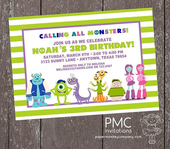 Monster School Party Birthday Invitation  by PaperMonkeyCompany, $1.00