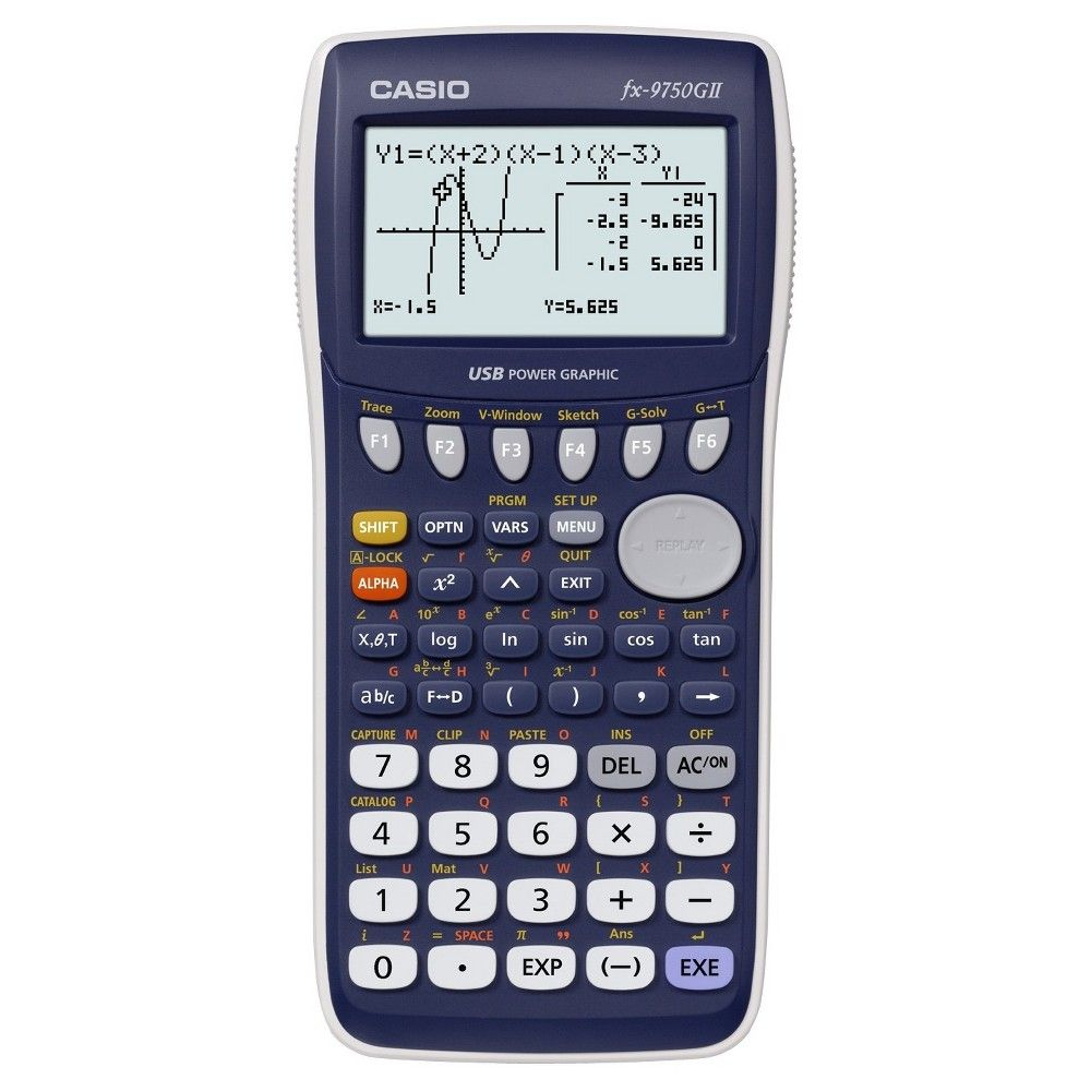 Casio Fx 9750gii Graphing Calculator Blue Dark Blue