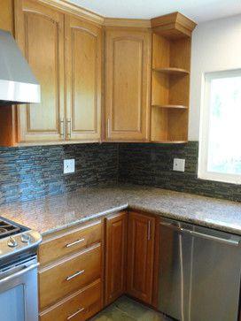honey maple shaker cabinets - Google Search | Kitchen ...