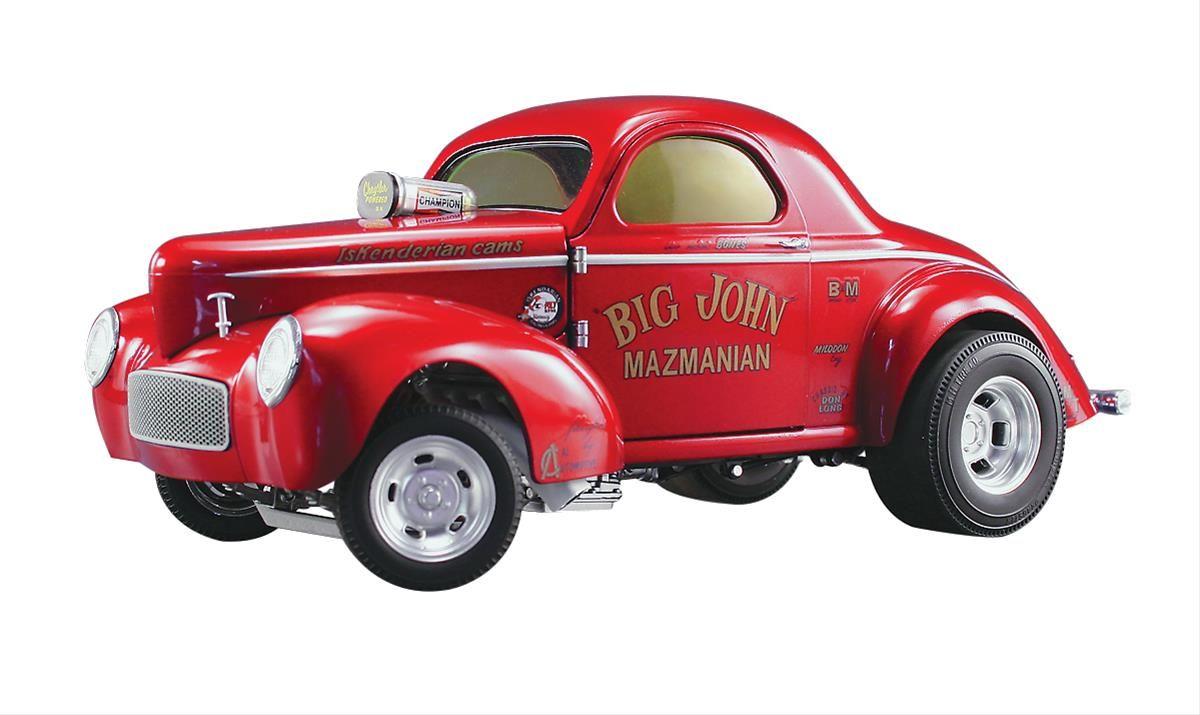 1 18 scale john mazmanian 1941 willys gasser acme diecast model