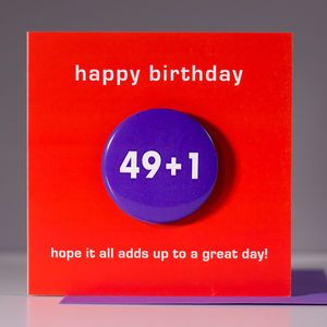 50th Birthday Card With A Badge