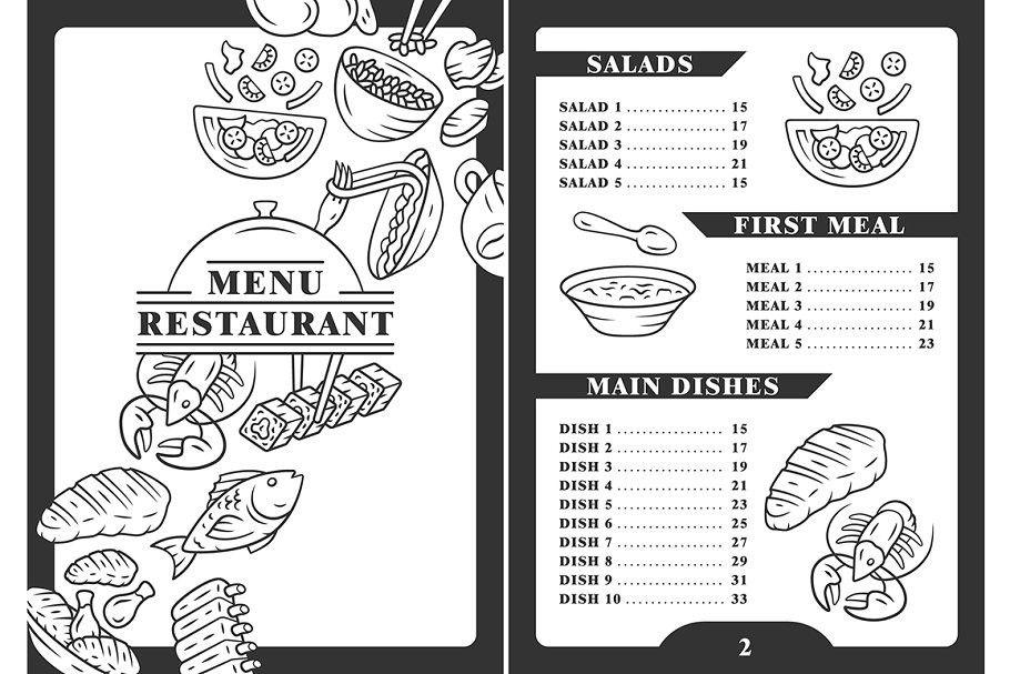 Restaurant Menu Cover Template Restaurant Menu Covers Menu Cover Menu Restaurant