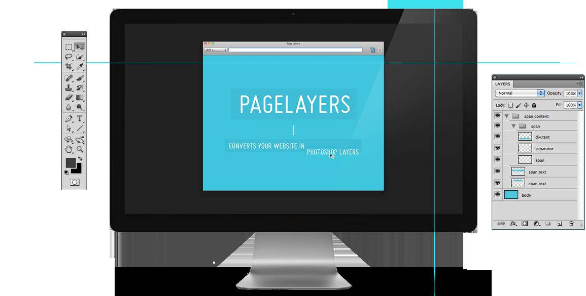 Mac website screenshot with layers, web screenshot os x, screenshot psd, web site layers