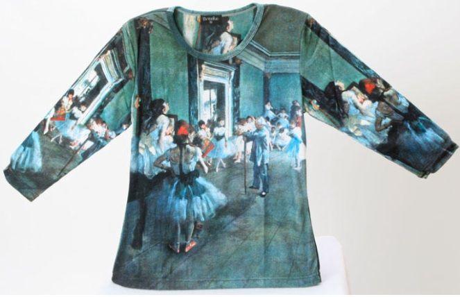 degas blue dance shirt $39.99