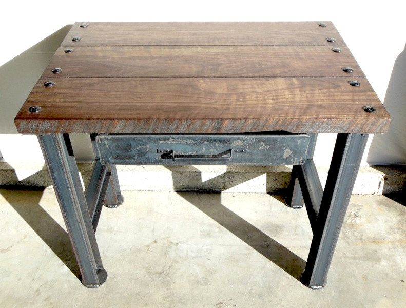 vintage industrial desk modern industrial rustic retro urban mid century modern design. Black Bedroom Furniture Sets. Home Design Ideas