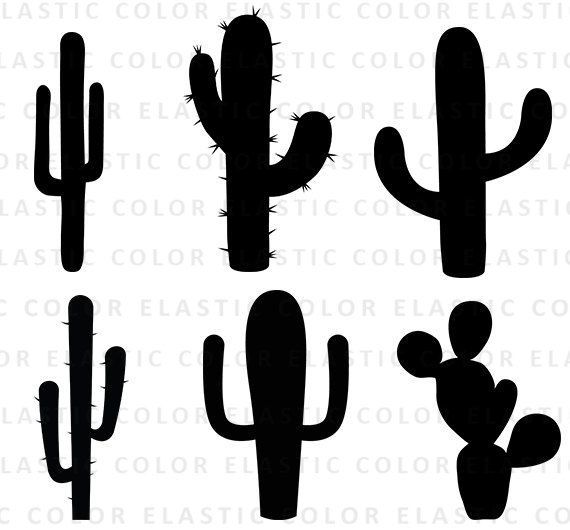 Cactus Svg Cactus Clipart Cactus Silhouette Cricut Files Etsy Cactus Clipart Cactus Silhouette Cactus