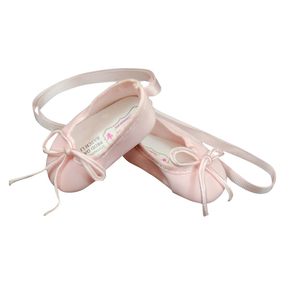 18 Inch Doll Clothes Accessory, Pink Satin Ballet Slipper + Authentic Shoe Box