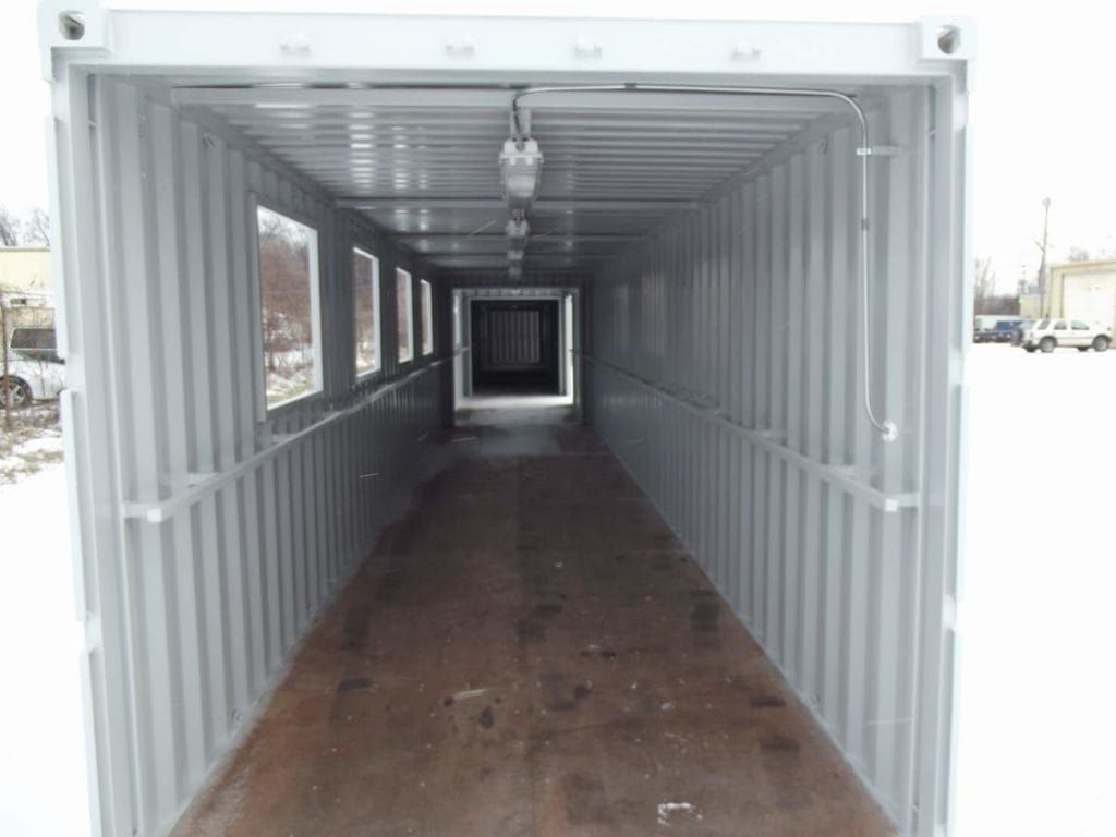 Covered walkway container industrial pinterest for Construction container