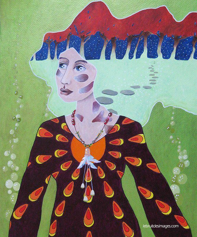 Peinture - Marina  Le Floch - La théorie des petits pas