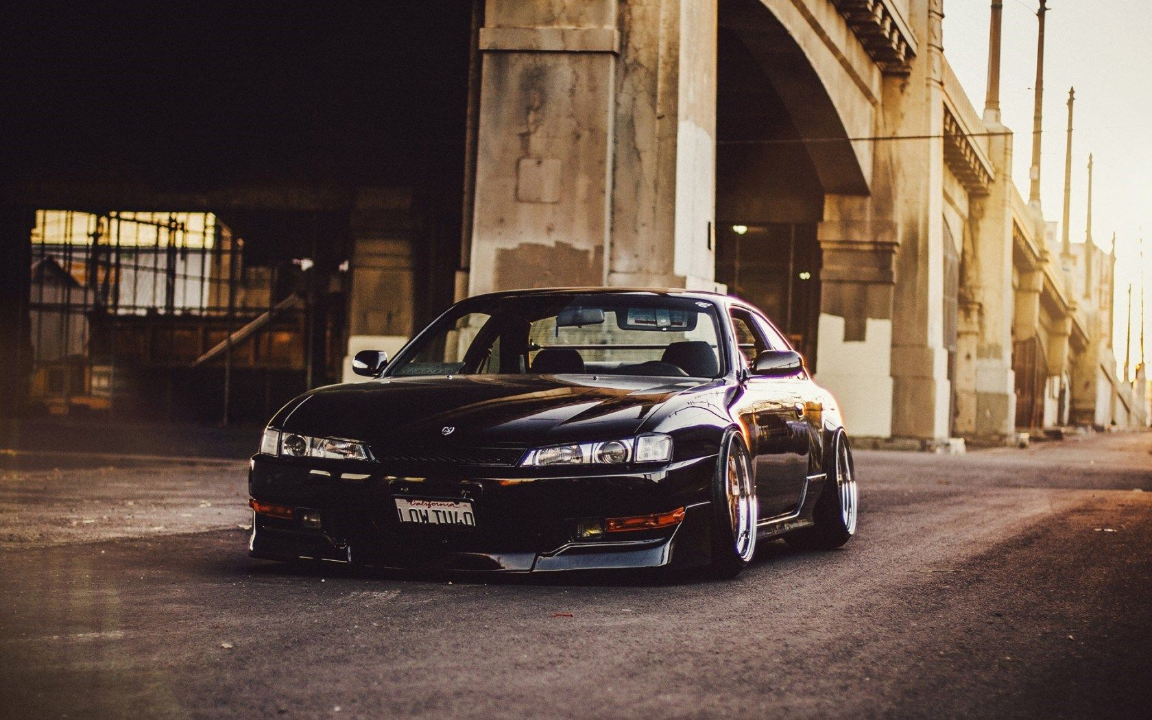 Silvia Mobili ~ Black nissan silvia tuning front view wallpaper http: www