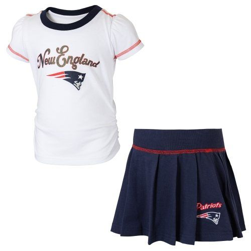 New England Patriots Toddler Skirt and T-Shirt Set – Navy Blue White ... f25aaa5bfa
