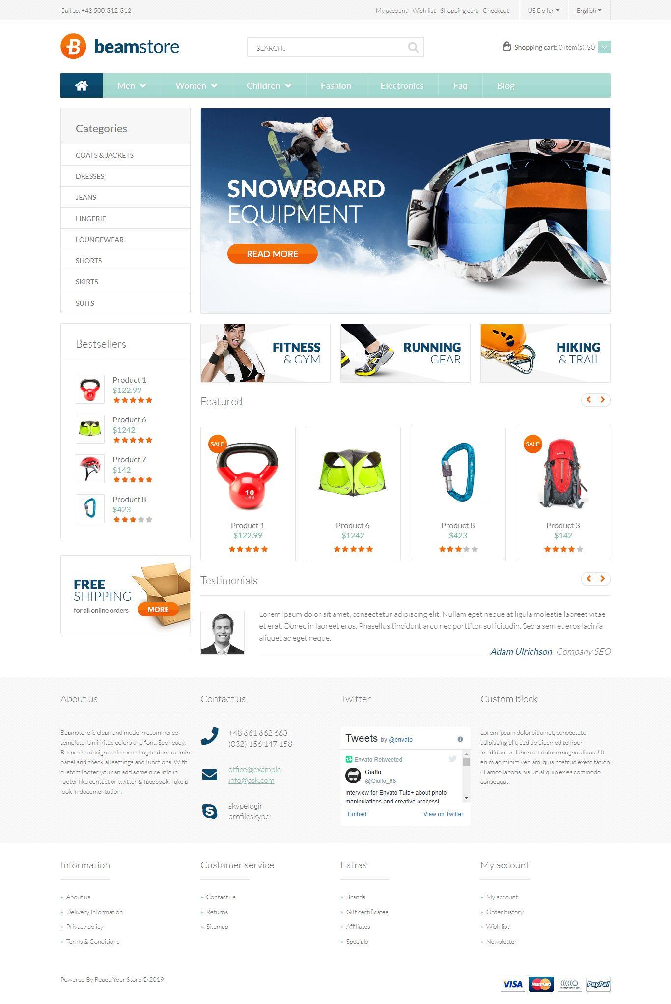 Premium React Ecommerce Html Website Template Ecommerce Template Templates Short Reads