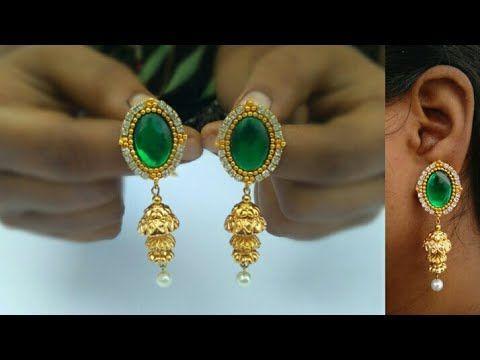 How To Make Designer Earrings Paper Jewellery Making DIY