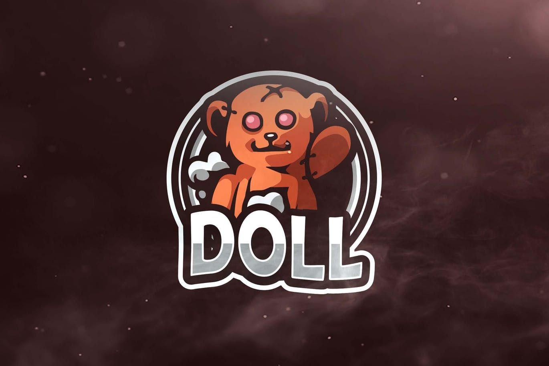 doll sport and esports logo template ai eps logo templates