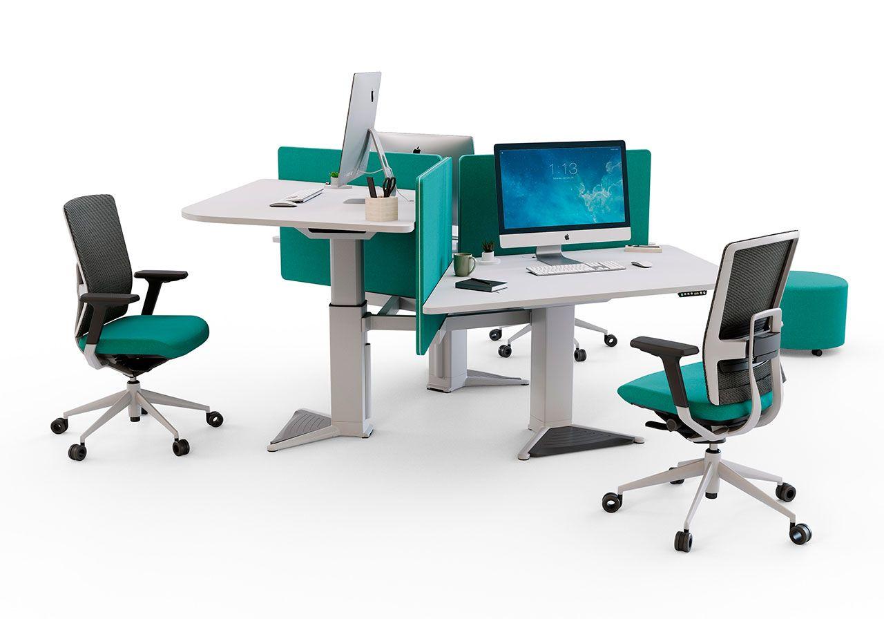 Height Adjustable Workstation Power Comfort For Work Actiu Desk Workstation Height Adjustable Workstation