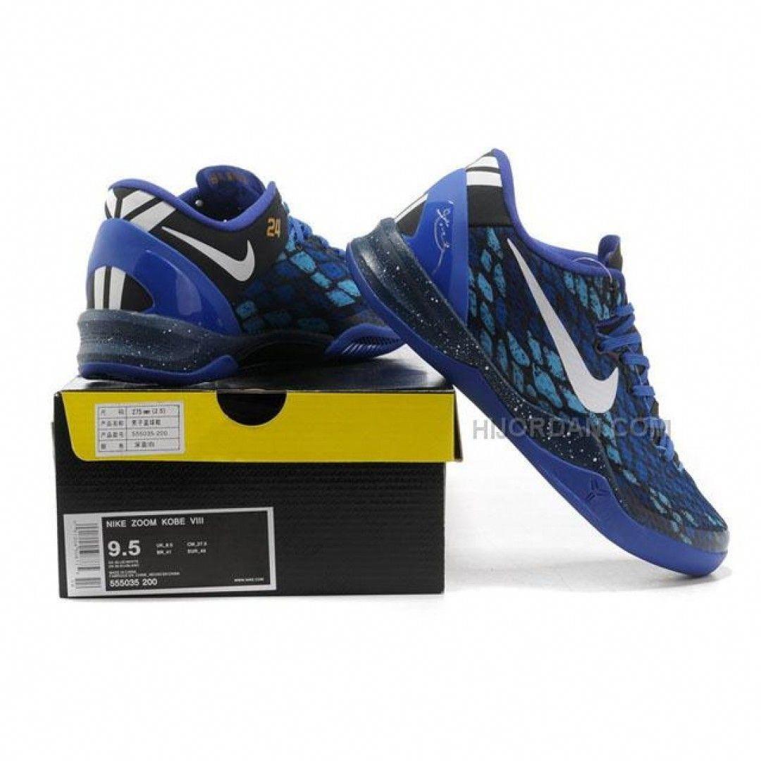 innovative design 3770c 2218b Nike Kobe 8 System Basketball Shoe Snake Blue Black  basketballsystem