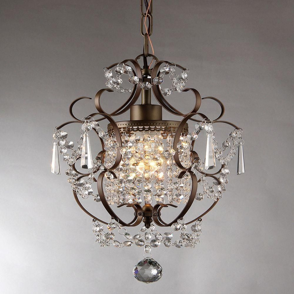 Crystal Chandelier Glamorous Vintage Look Ceiling Light