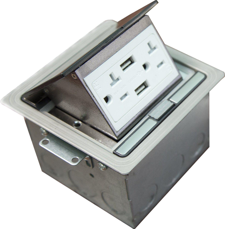 topgreener water proof lid pop up floor box with high speed