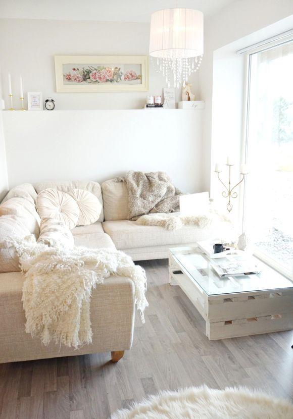 Selección de imagénes de salones Cozy, Pallets and Living rooms - wohnzimmer grau rosa