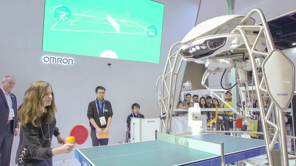 I played ping pong with a robot and lost play robot tennis
