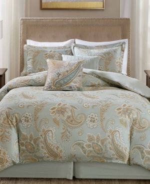 Harbor House Sienna Reversible 5pc Paisley Print Full Queen Duvet