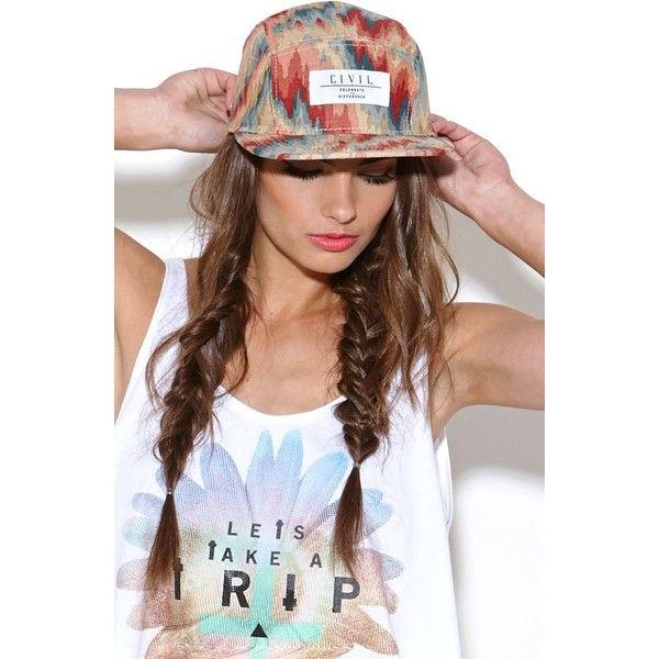 Civil Camper Acid Floral Hat ($45)