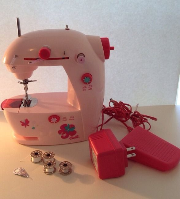 Barbie Kids Sewing Machine Portable Pink Toy Working Instructions Simple Barbie Sewing Machine Instructions